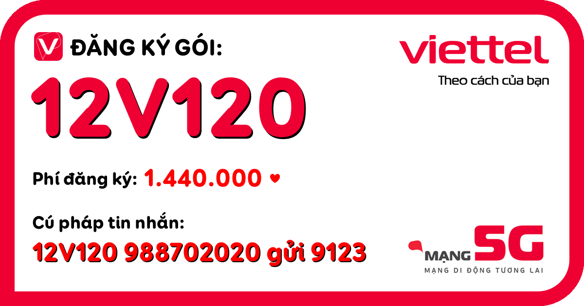 Đăng ký gói 12v120 viettel