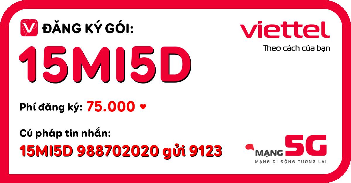 Đăng ký gói 15mi5d viettel