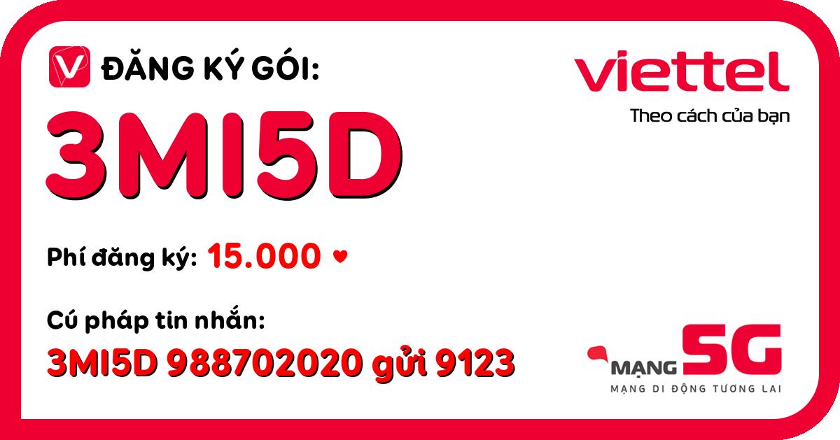 Đăng ký gói 3mi5d viettel