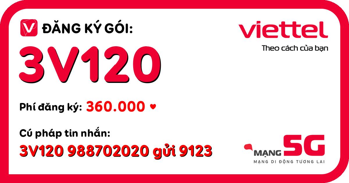 Đăng ký gói 3v120 viettel