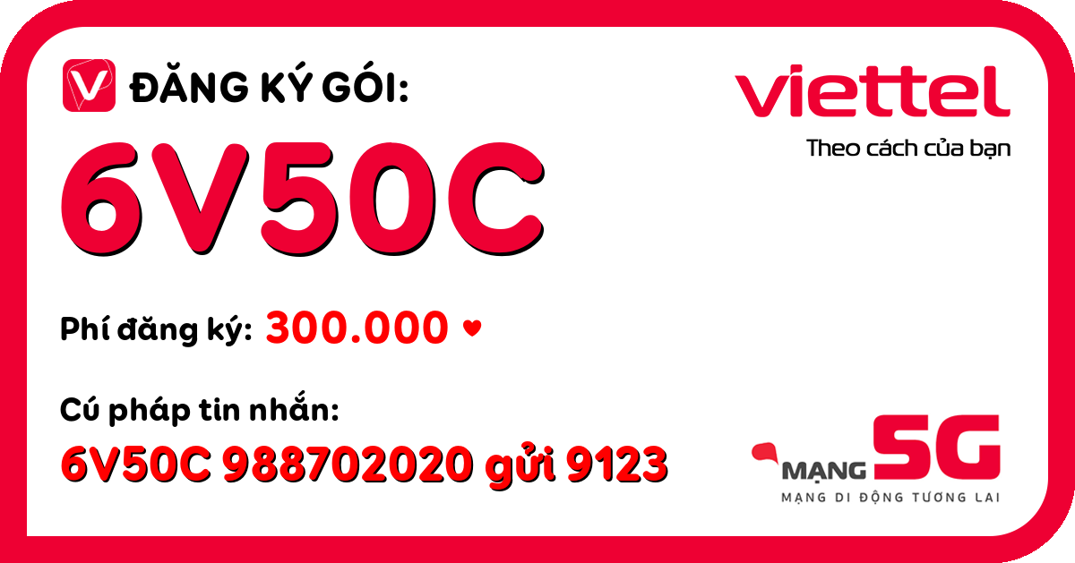 Đăng ký gói 6v50c viettel