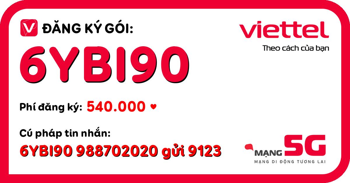 Đăng ký gói 6ybi90 viettel