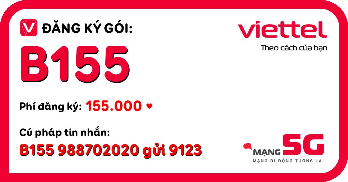 Đăng ký gói b155 viettel