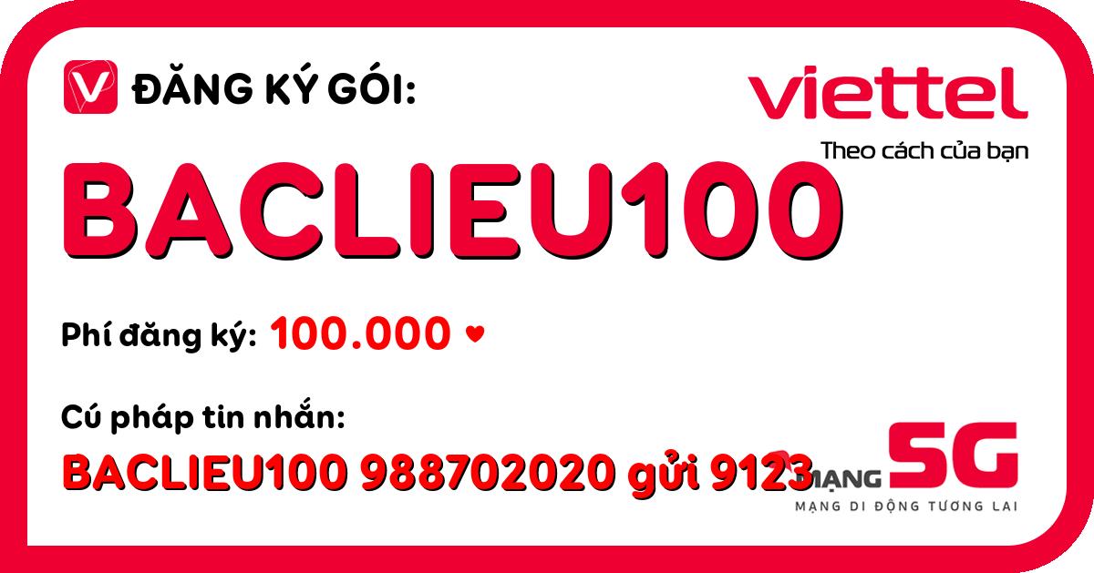 Đăng ký gói baclieu100 viettel