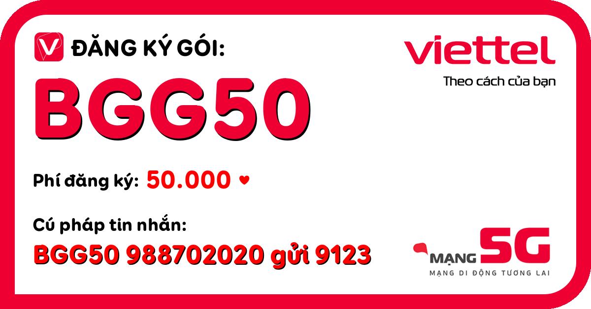 Đăng ký gói bgg50 viettel