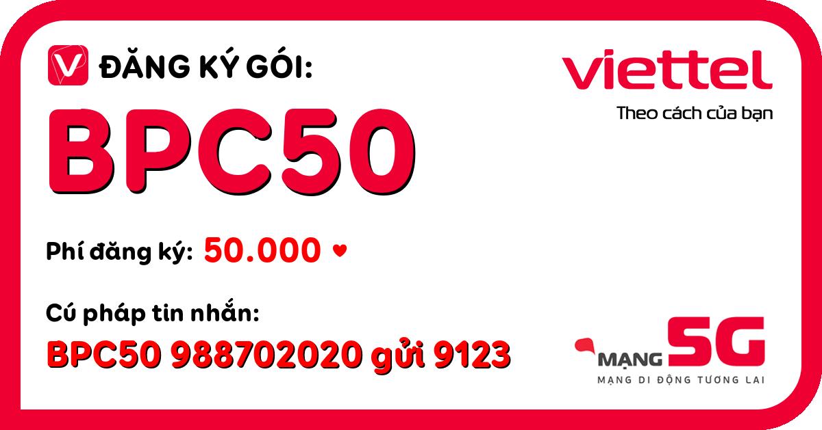 Đăng ký gói bpc50 viettel