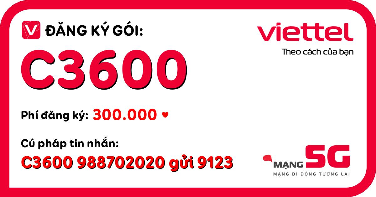 Đăng ký gói c3600 viettel