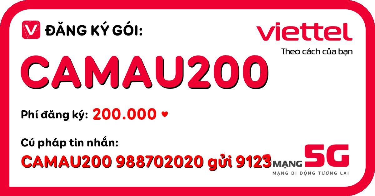 Đăng ký gói camau200 viettel