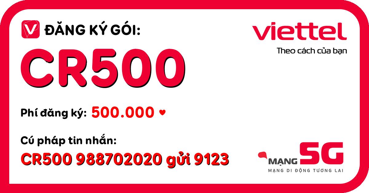 Đăng ký gói cr500 viettel