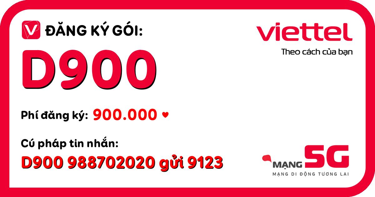 Đăng ký gói d900 viettel