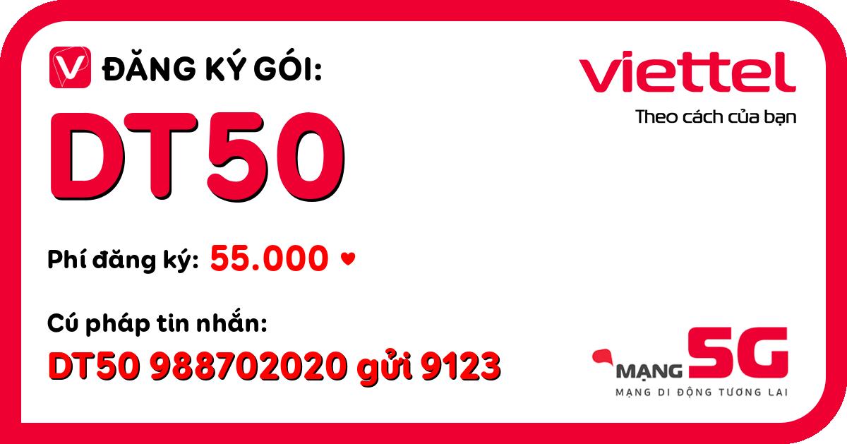 Đăng ký gói dt50 viettel