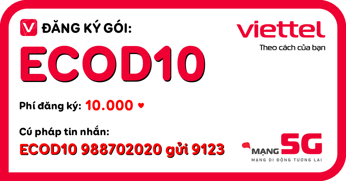 Đăng ký gói ecod10 viettel