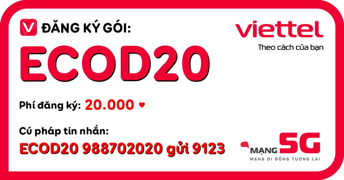 Đăng ký gói ecod20 viettel
