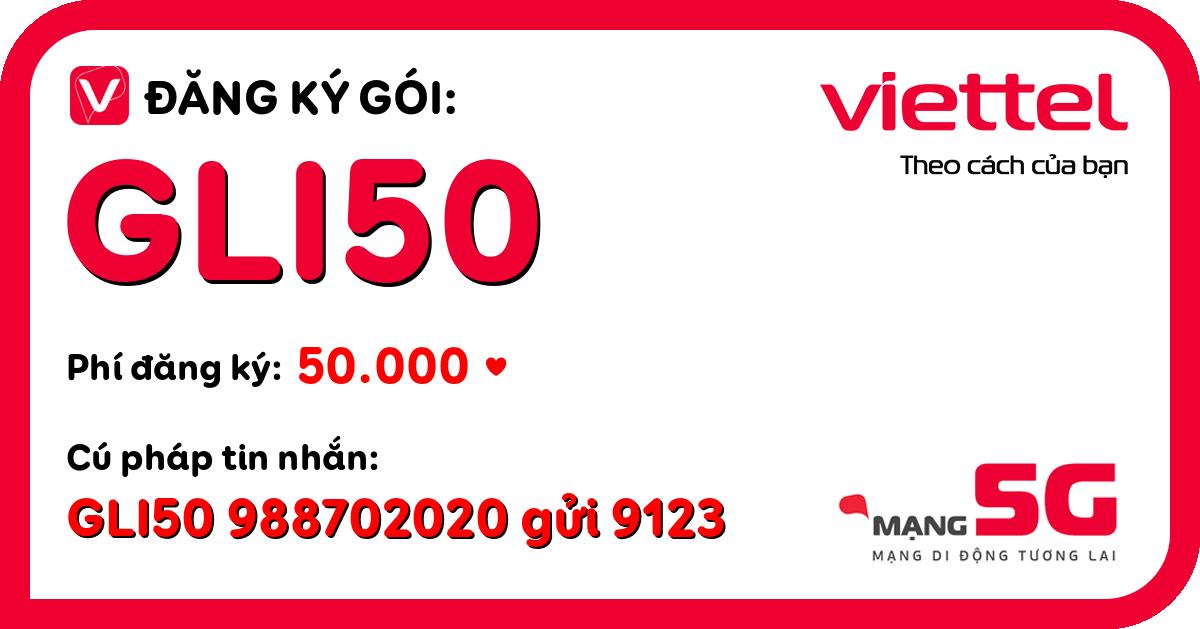 Đăng ký gói gli50 viettel