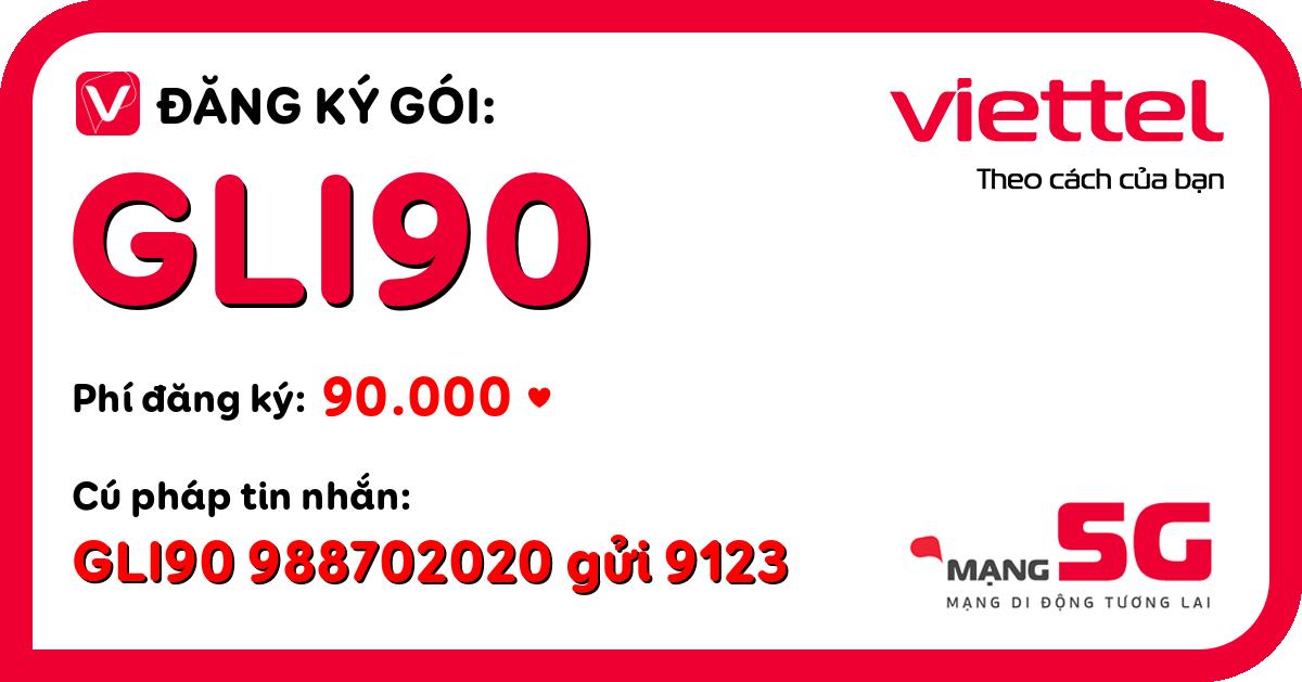 Đăng ký gói gli90 viettel
