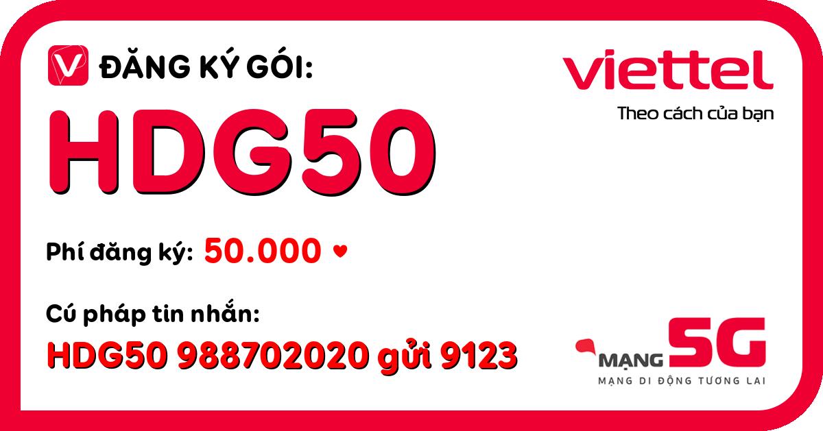 Đăng ký gói hdg50 viettel