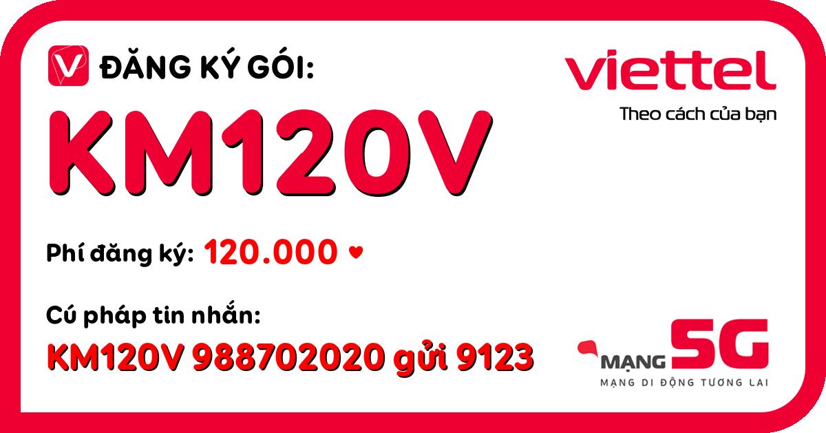 Đăng ký gói km120v viettel