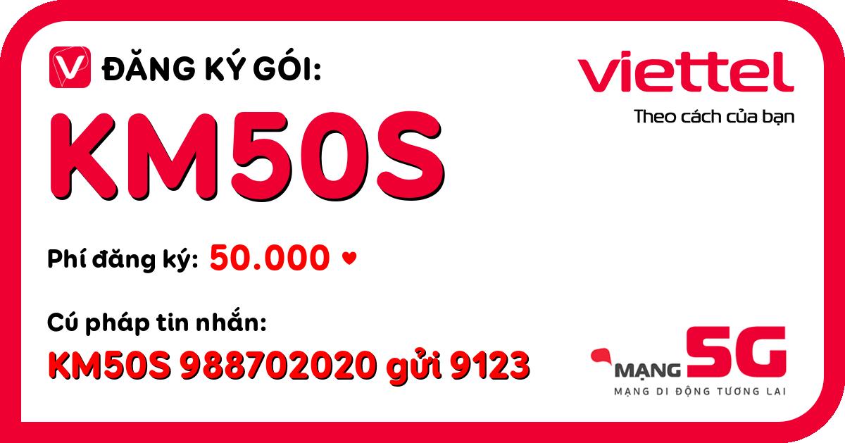 Đăng ký gói km50s viettel