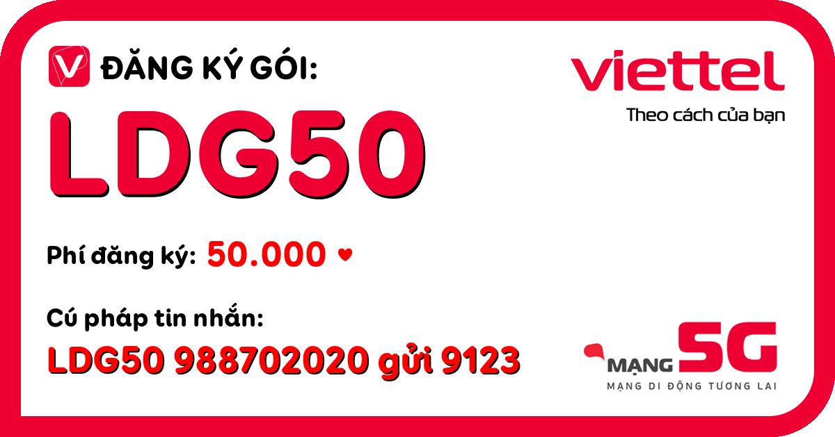 Đăng ký gói ldg50 viettel