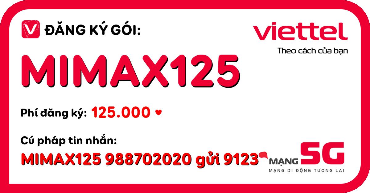 Đăng ký gói mimax125 viettel