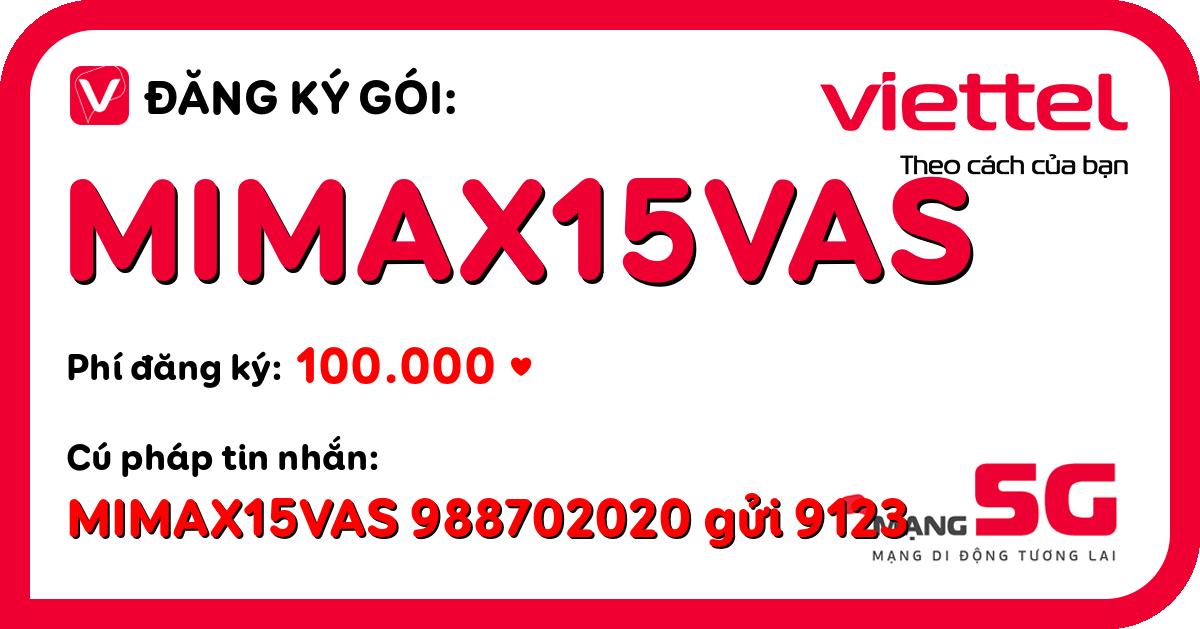 Đăng ký gói mimax15vas viettel