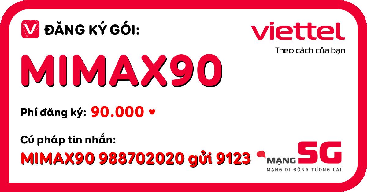 Đăng ký gói mimax90 viettel