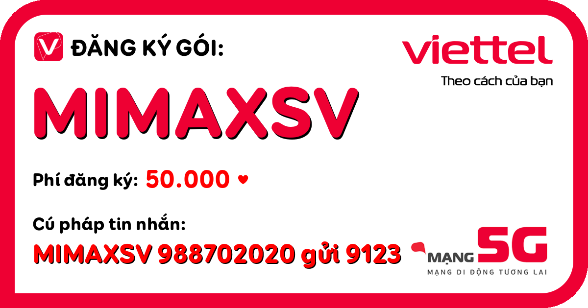 Đăng ký gói mimaxsv viettel