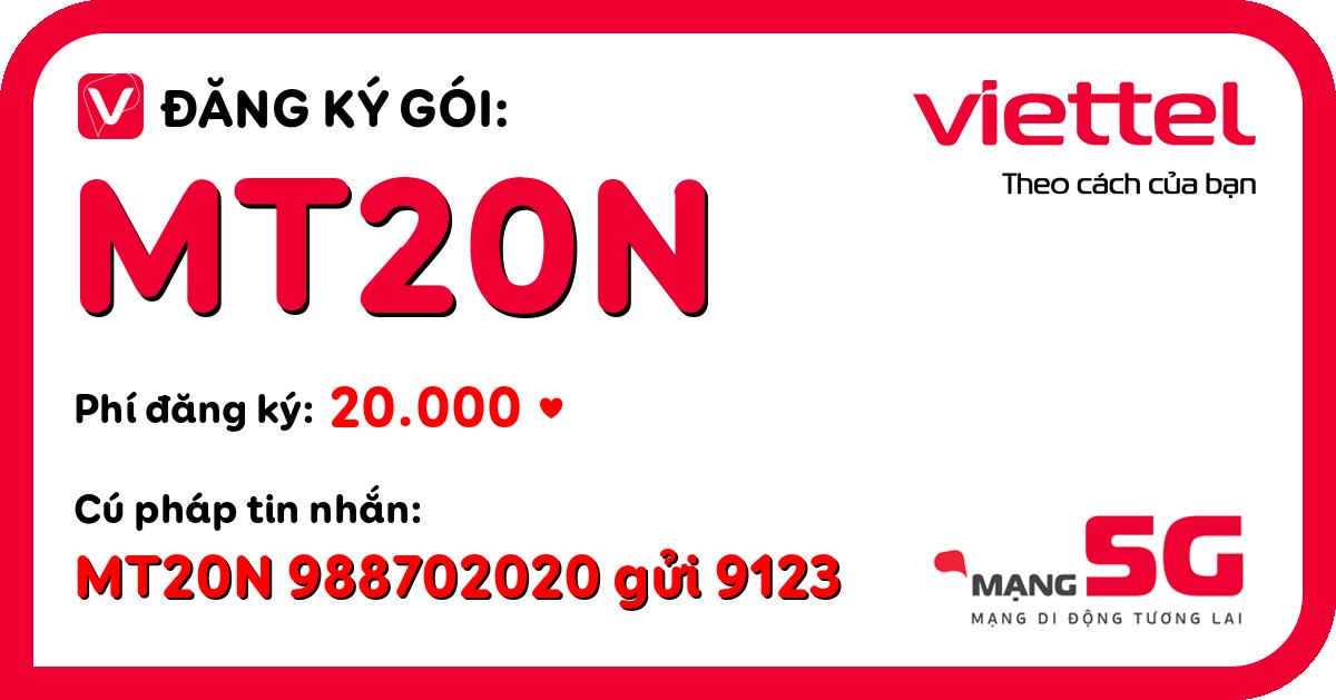 Đăng ký gói mt20n viettel