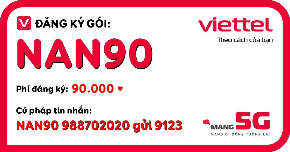 Đăng ký gói nan90 viettel