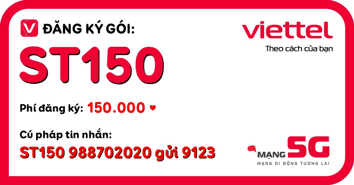 Đăng ký gói st150 viettel
