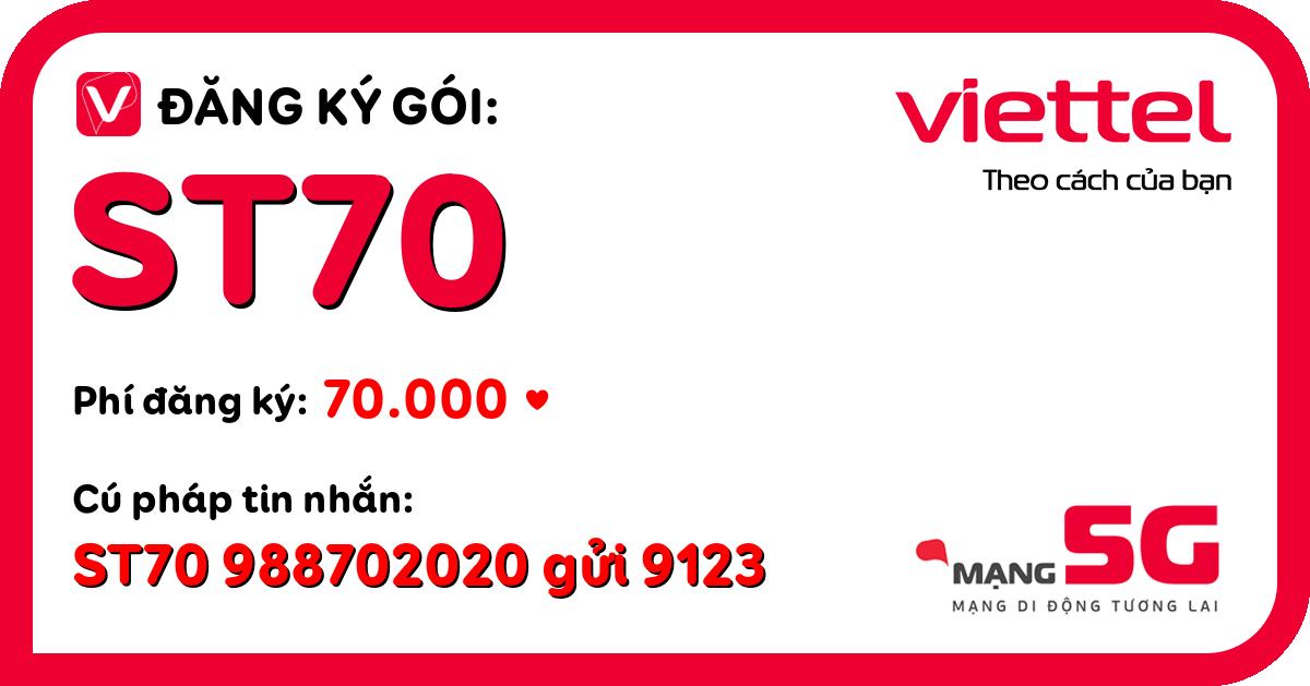 Đăng ký gói st70 viettel