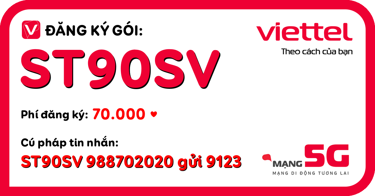 Đăng ký gói st90sv viettel