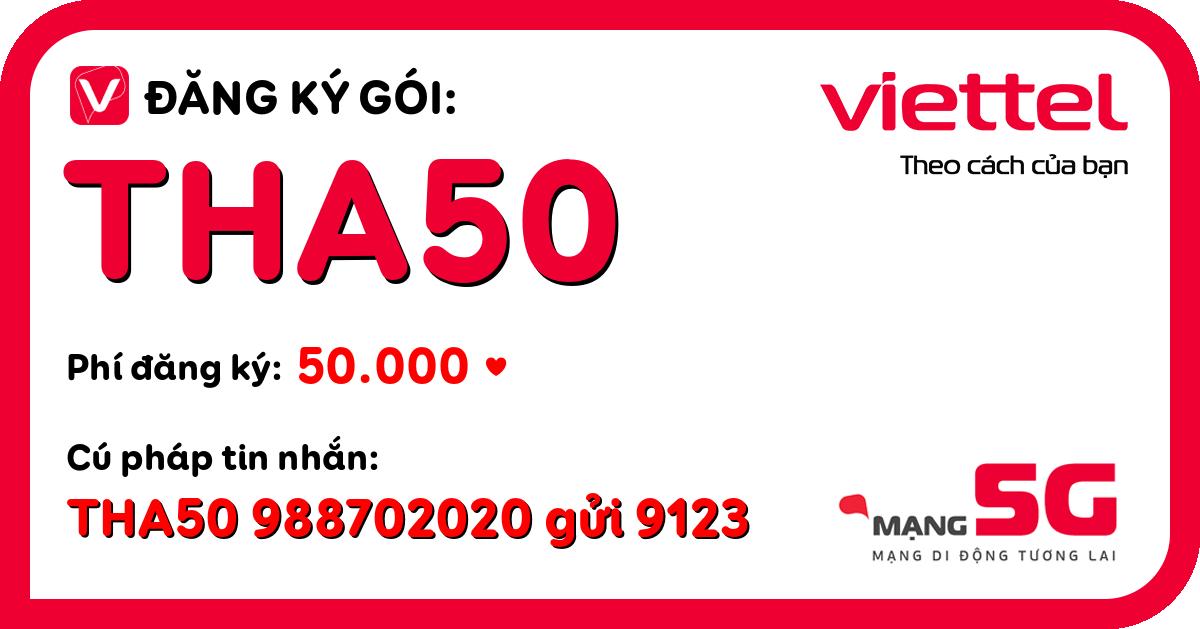 Đăng ký gói tha50 viettel