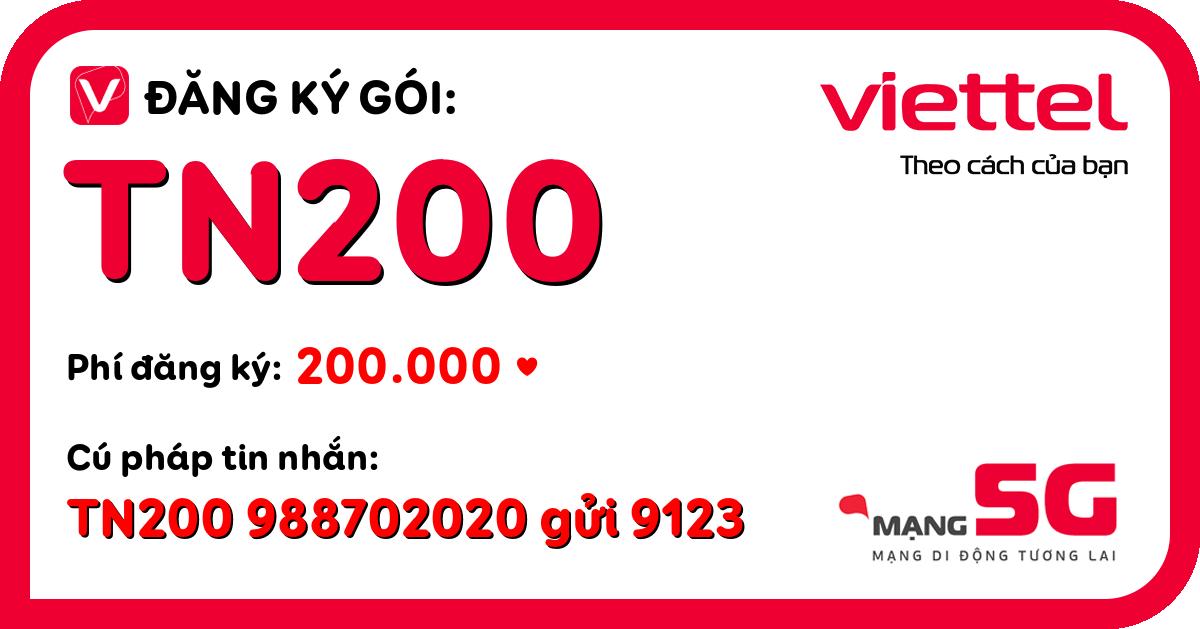 Đăng ký gói tn200 viettel