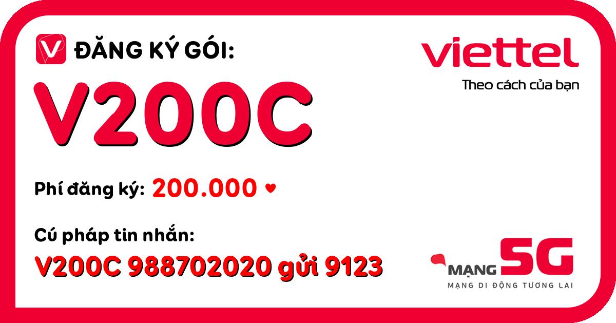 Đăng ký gói v200c viettel