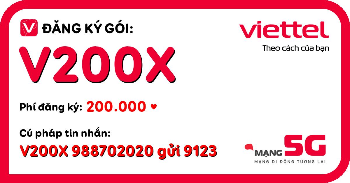Đăng ký gói v200x viettel