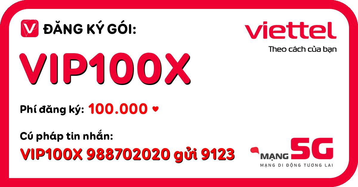 Đăng ký gói vip100x viettel