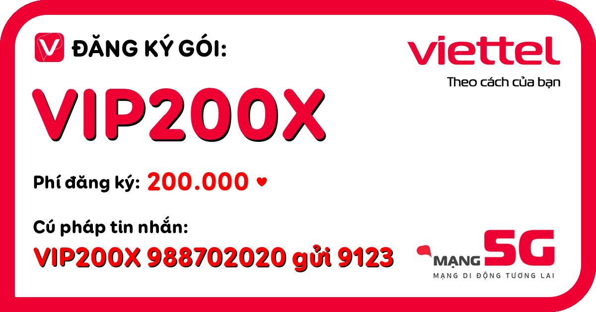 Đăng ký gói vip200x viettel