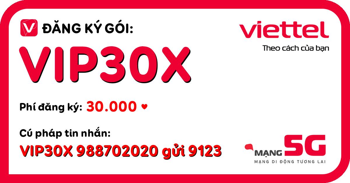 Đăng ký gói vip30x viettel