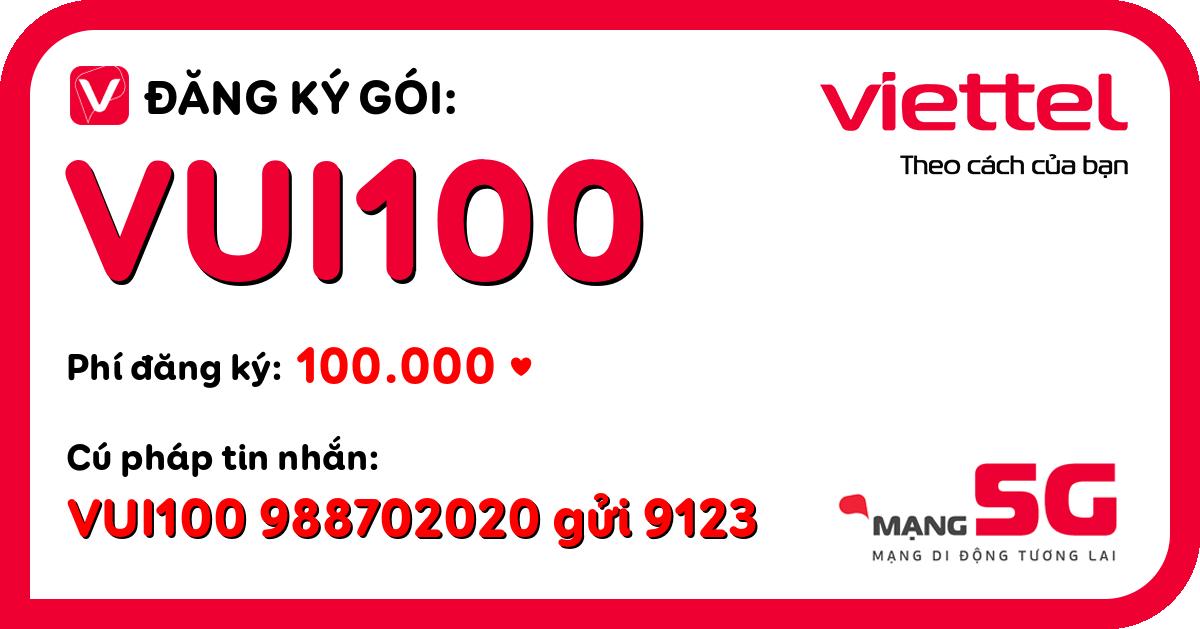 Đăng ký gói vui100 viettel