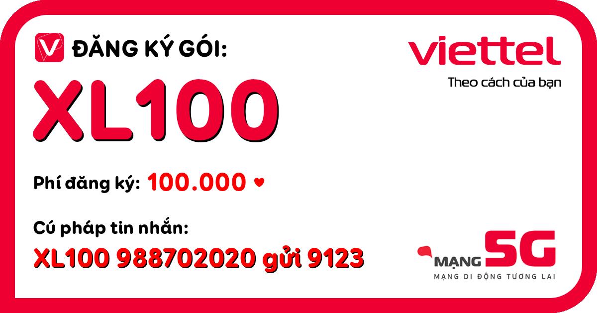 Đăng ký gói xl100 viettel