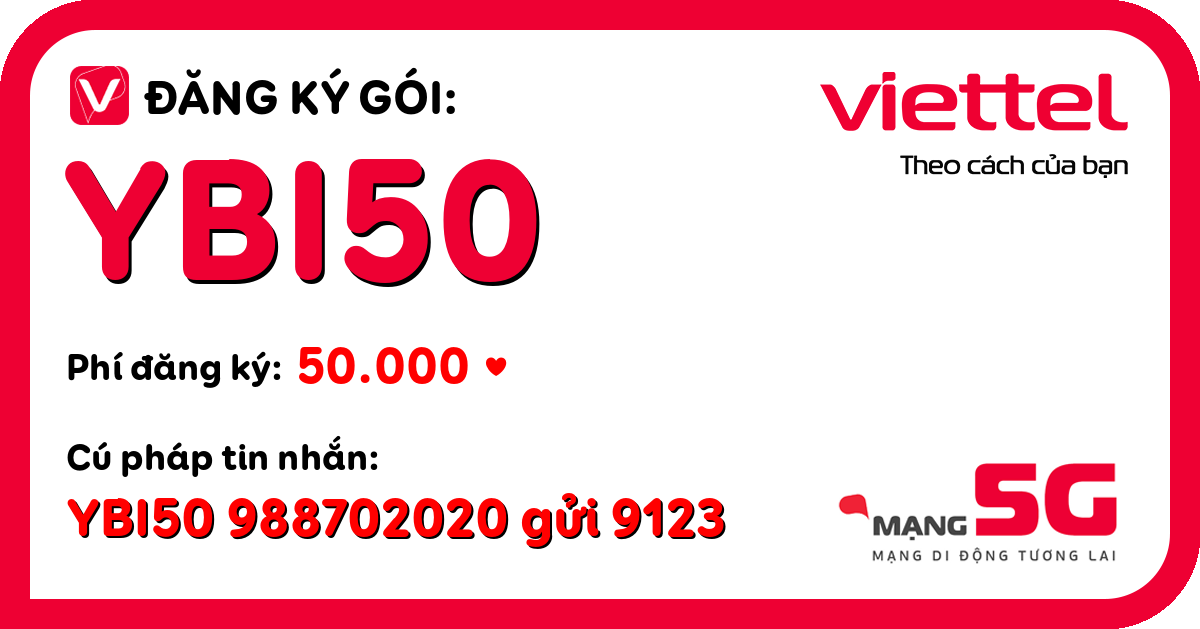 Đăng ký gói ybi50 viettel
