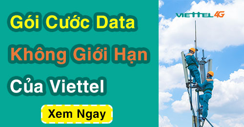 Gói cước data không giới hạn thời gian sử dụng của viettel